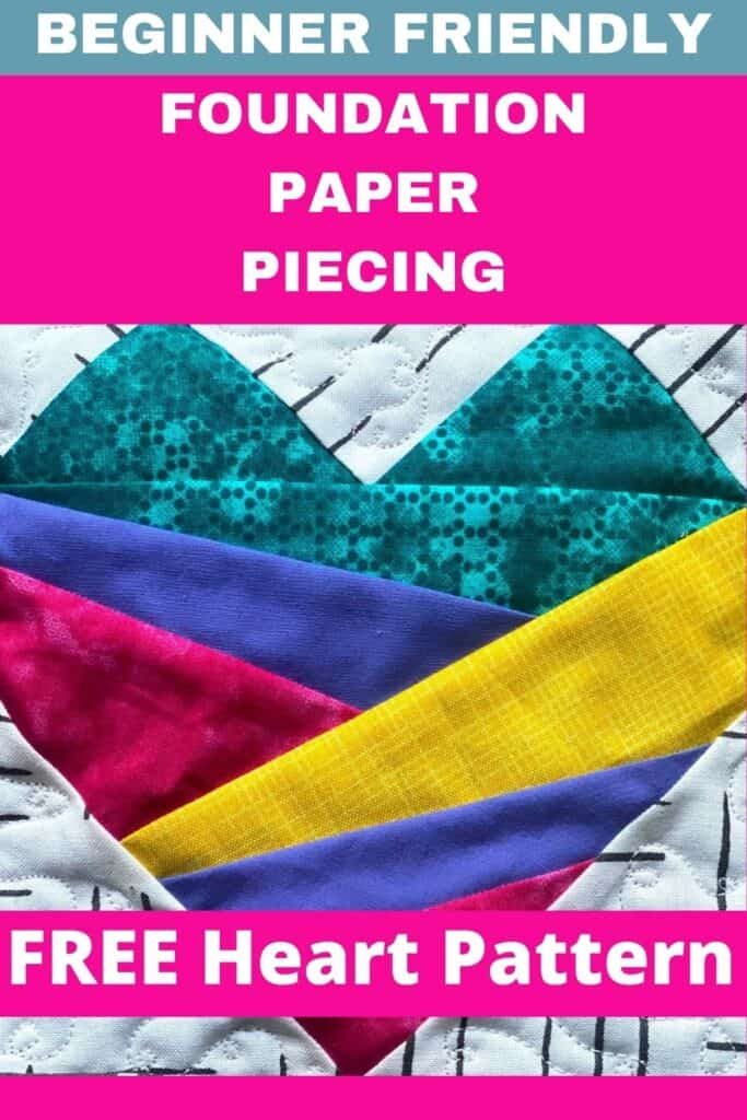 free heart pattern foundation paper piecing