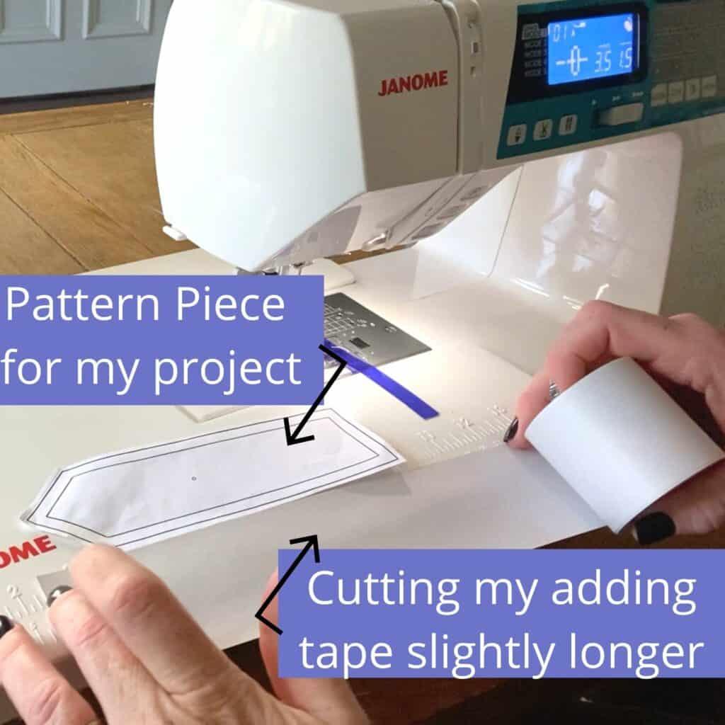 how to sew scraps to adding machine tape
