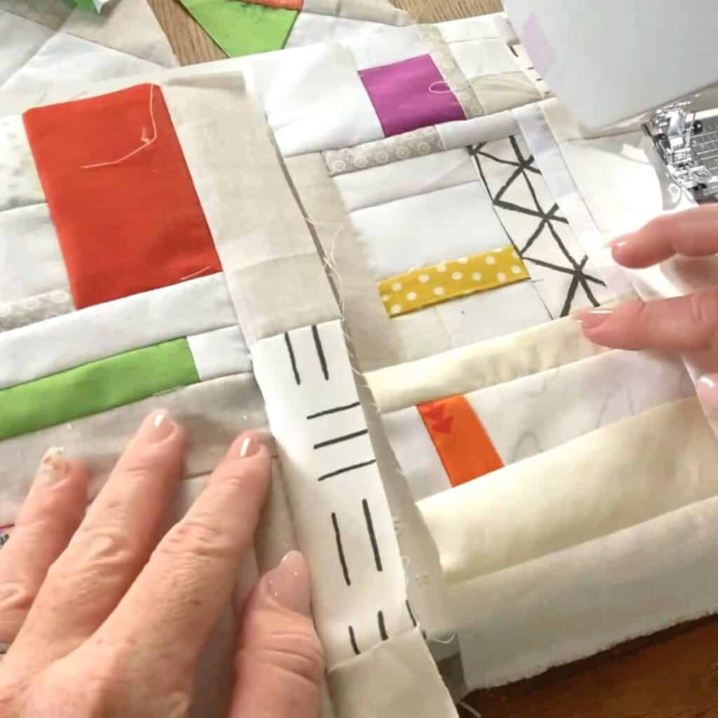 crumb quilting in sections
