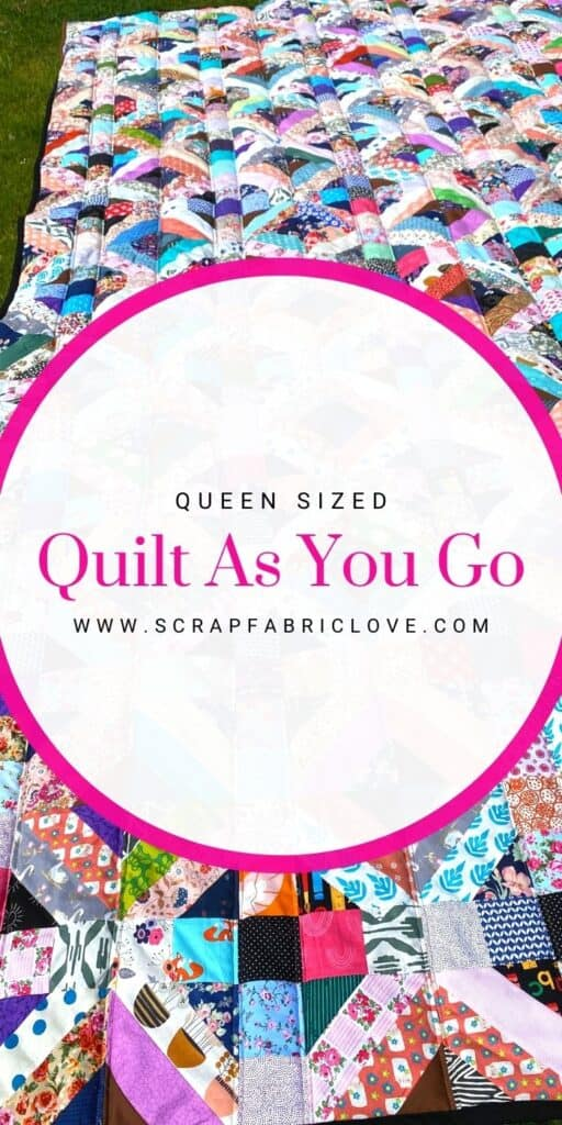 quilt as you go in sections