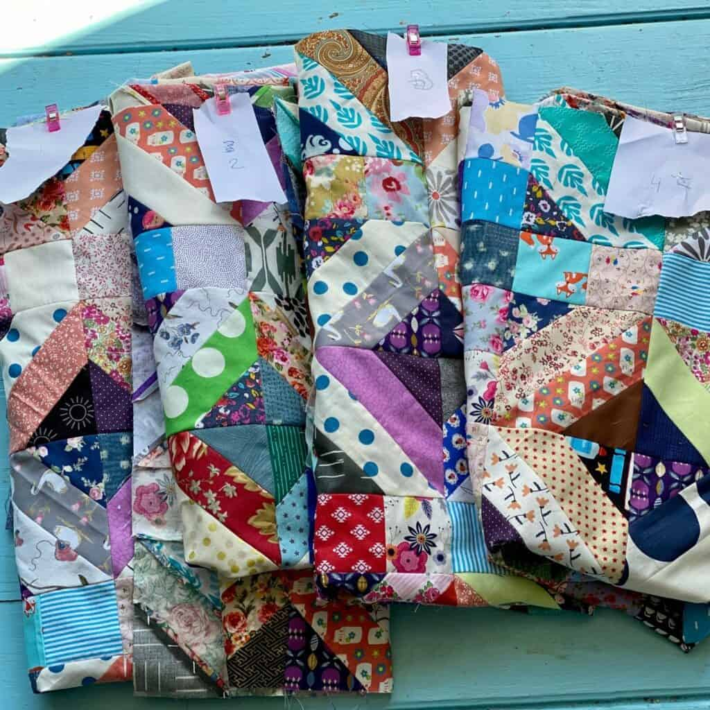 quilt as you go sections