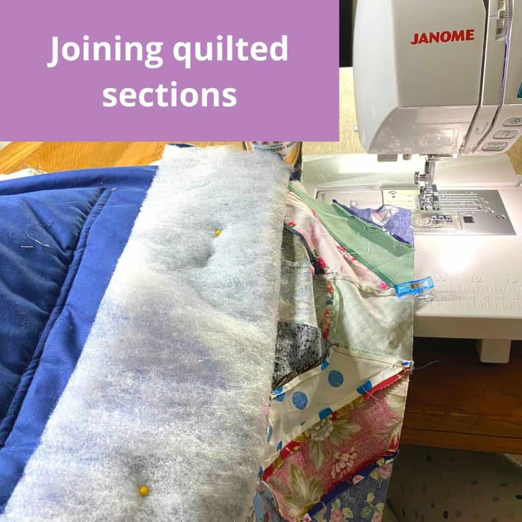 joining quilt as you go sections
