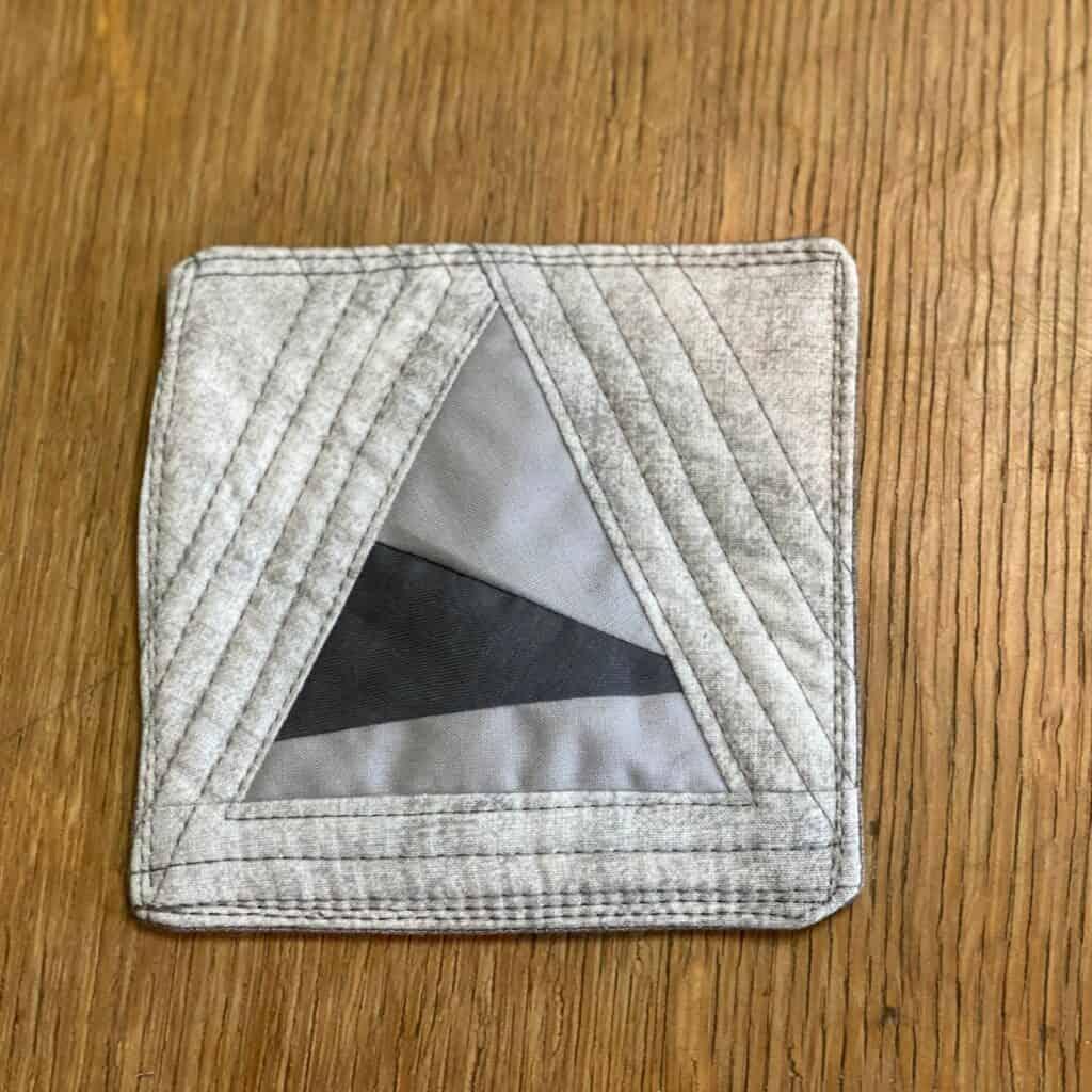quilt as you go coaster - triangle