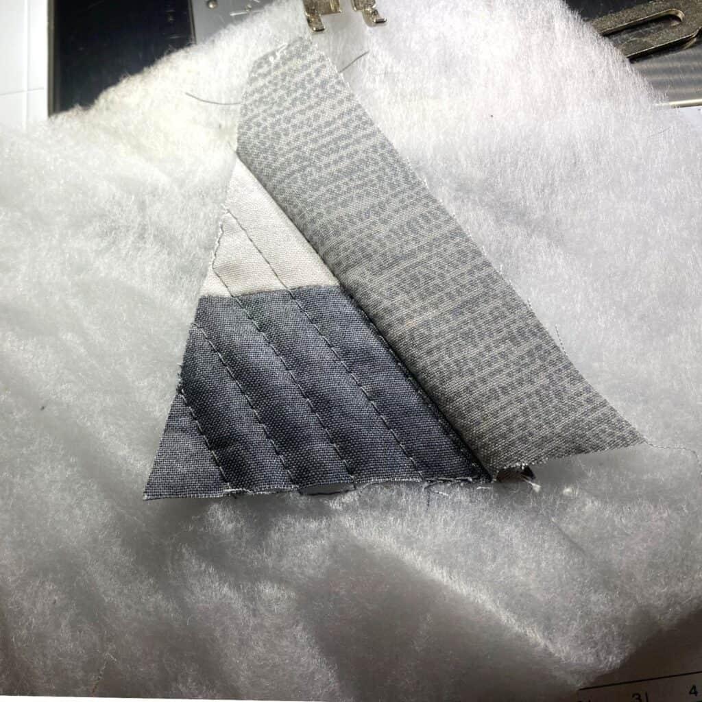 quilt as you go - finger pressing