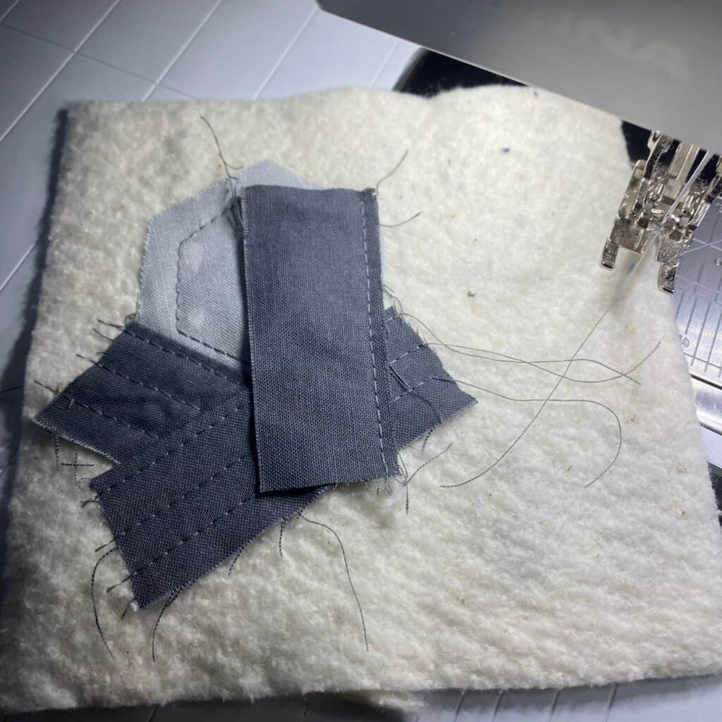 quilt as you go scrappy coasters