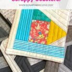 quilted scrap fabric coasters